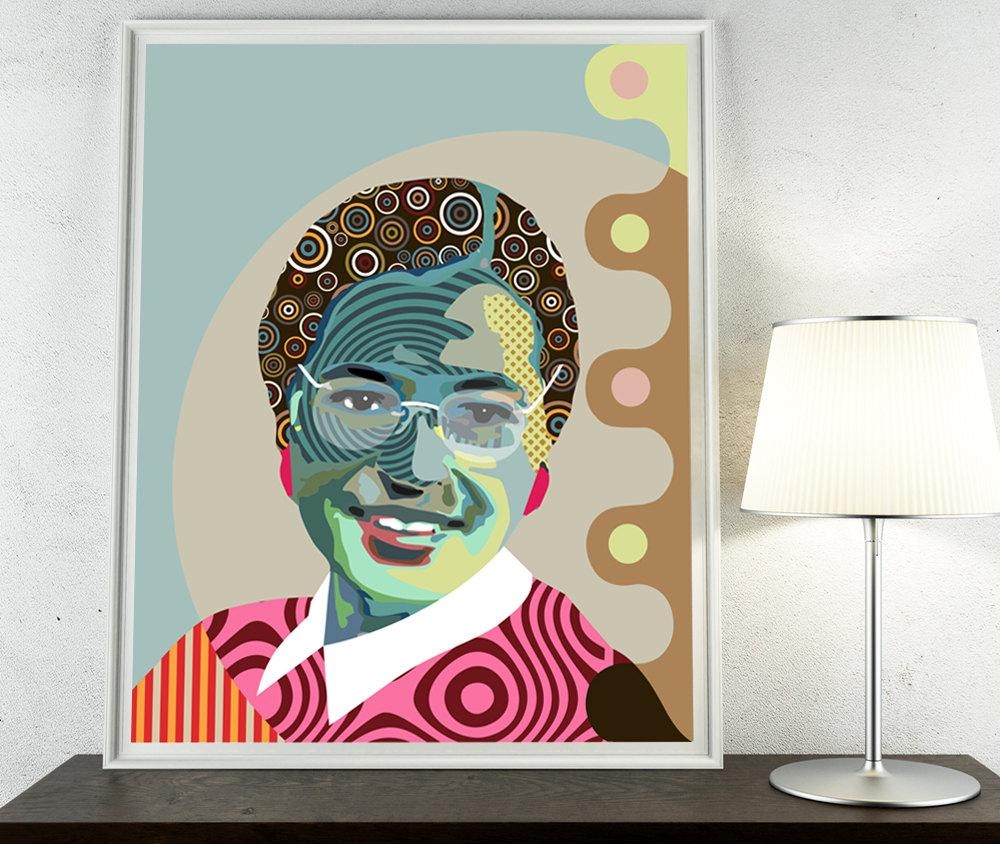 Rosa Parks African American Civil Rights Activist Montgomery With Regard To African American Wall Art (View 16 of 20)