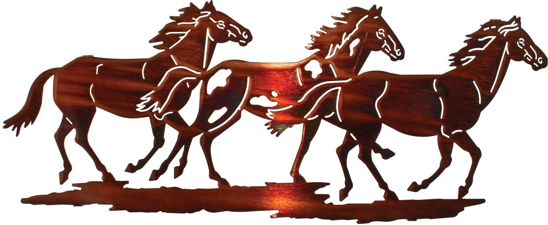 Running Horses Best Sellerlazart – Sanger Metal Art And Gifts Inside Lazart Metal Wall Art (Image 18 of 20)