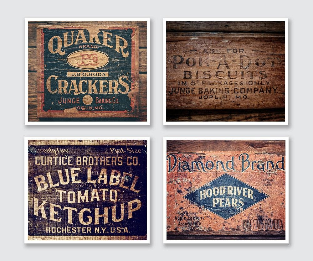 Rustic Wall Decor For Kitchen | Roselawnlutheran pertaining to Vintage Style Wall Art
