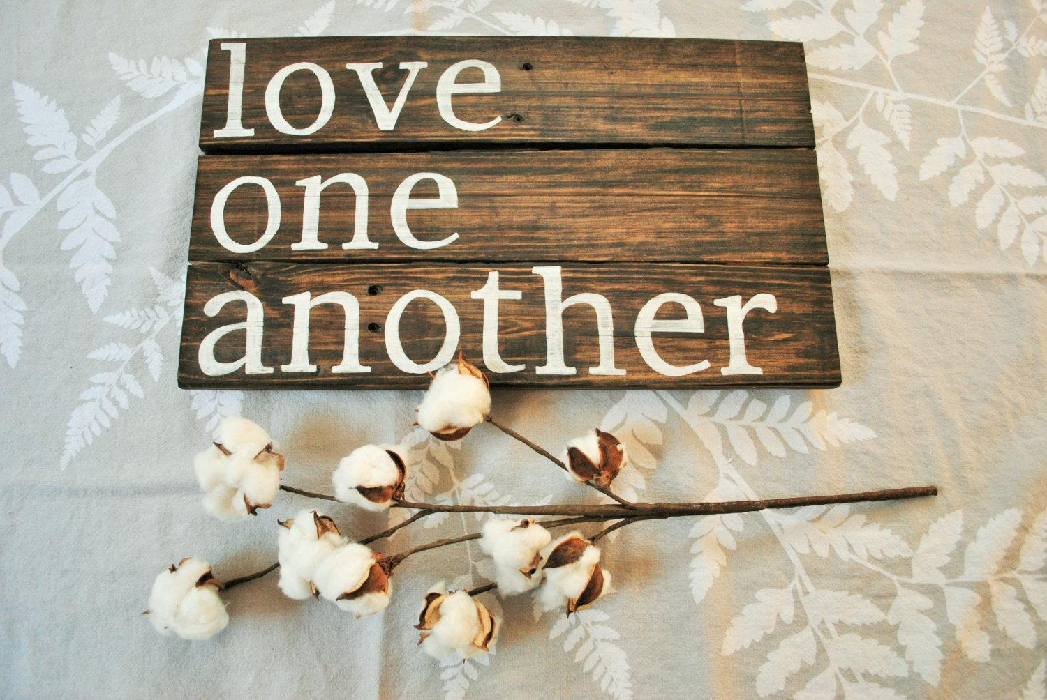 Rustic Wall Decor Reclaimed Wood Wall Art Love Quote Wall For Wooden Words Wall Art (Image 6 of 20)