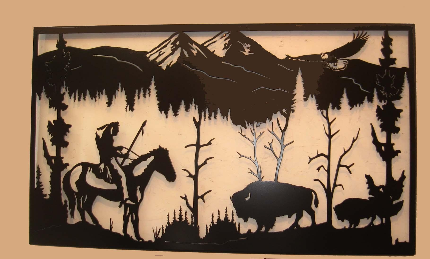 S & L Enterprises – Western Wall Art Regarding Western Metal Art Silhouettes (Image 12 of 20)