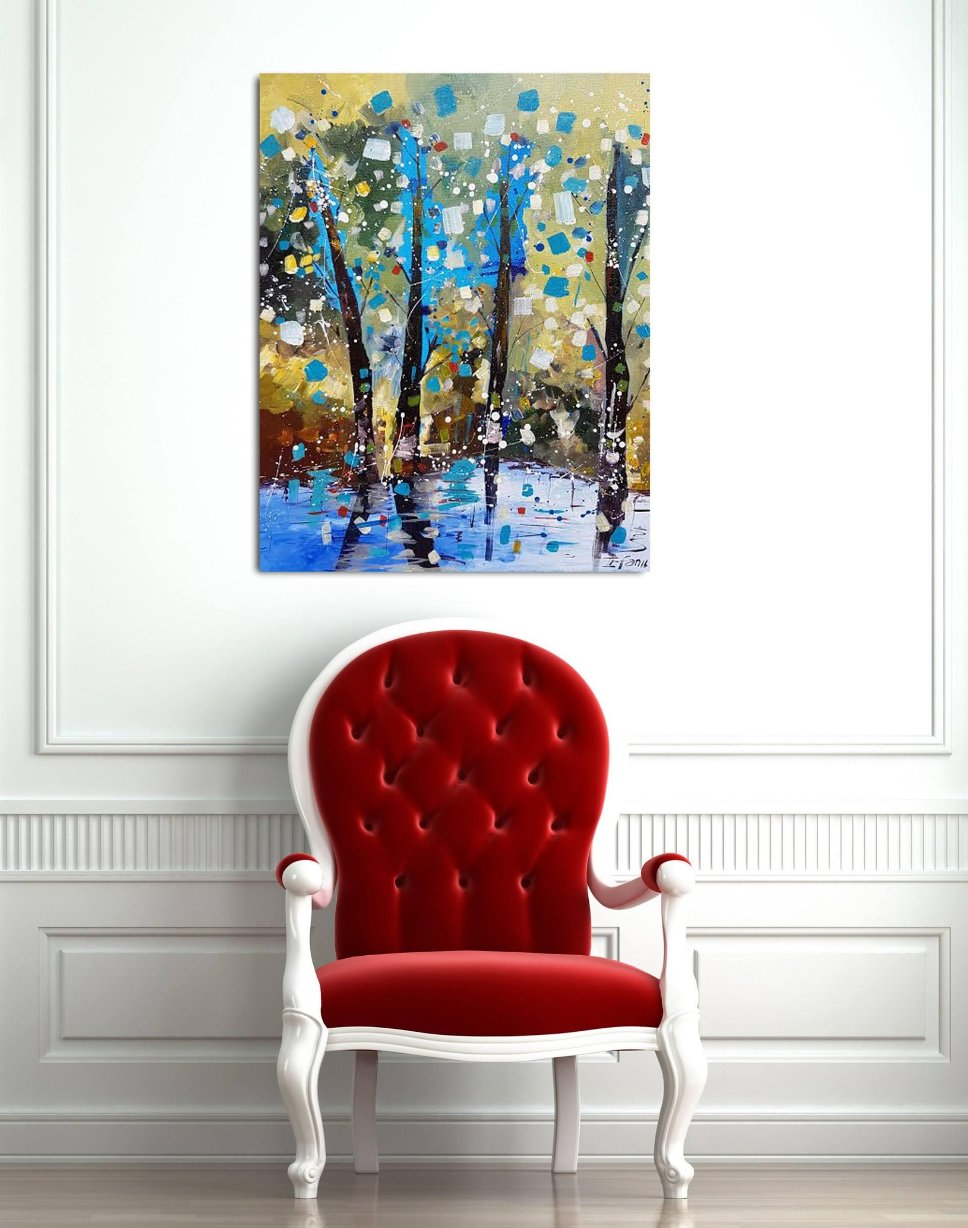 Saatchi Art: Colors Of Autumn/ Spring Impression Landscape Regarding Autumn  Inspired Wall Art (Image 17 of 20)