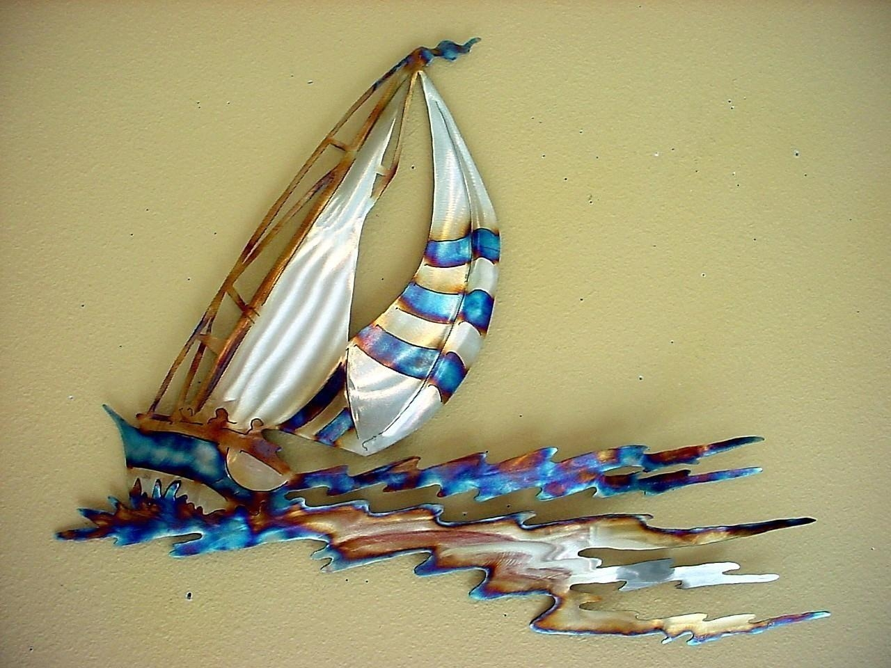 Featured Image of Metal Sailboat Wall Art
