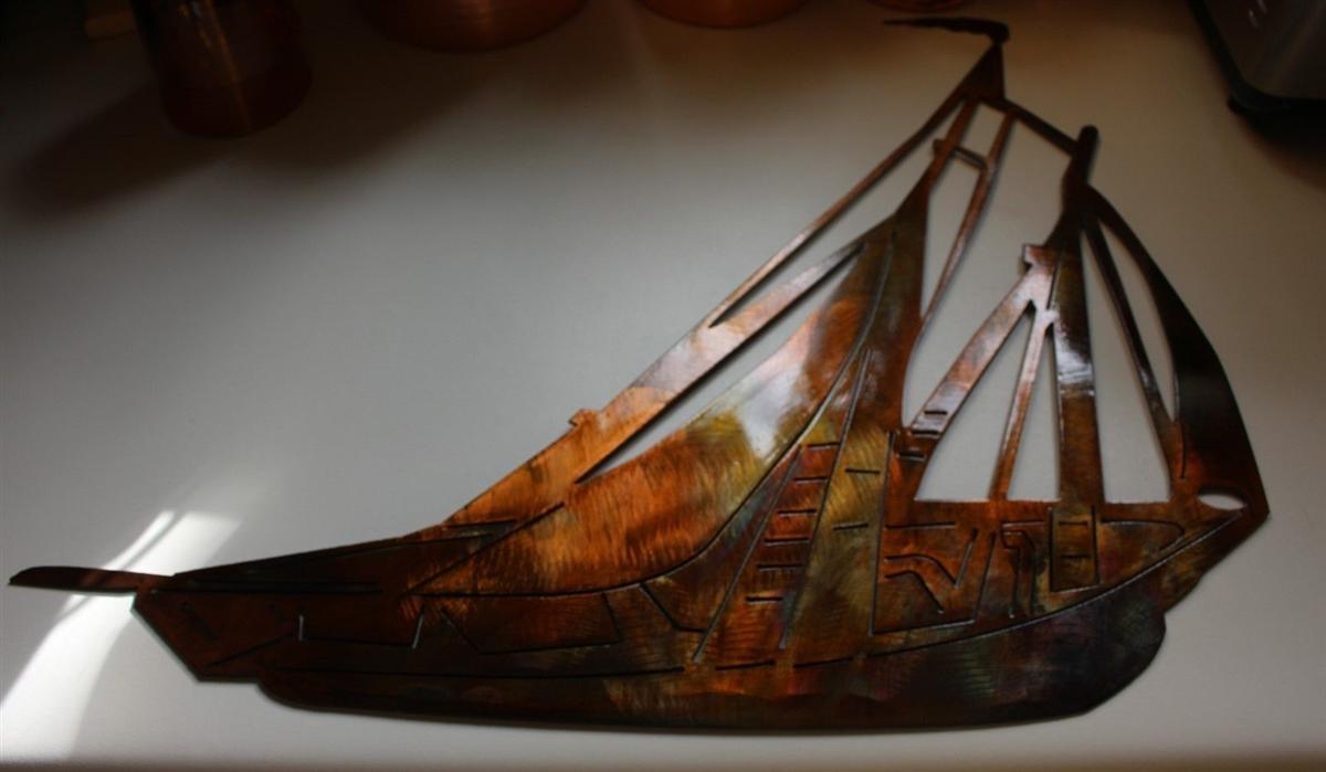 Sailboat, Sailing Metal Wall Art Throughout Sailboat Metal Wall Art (Image 16 of 20)