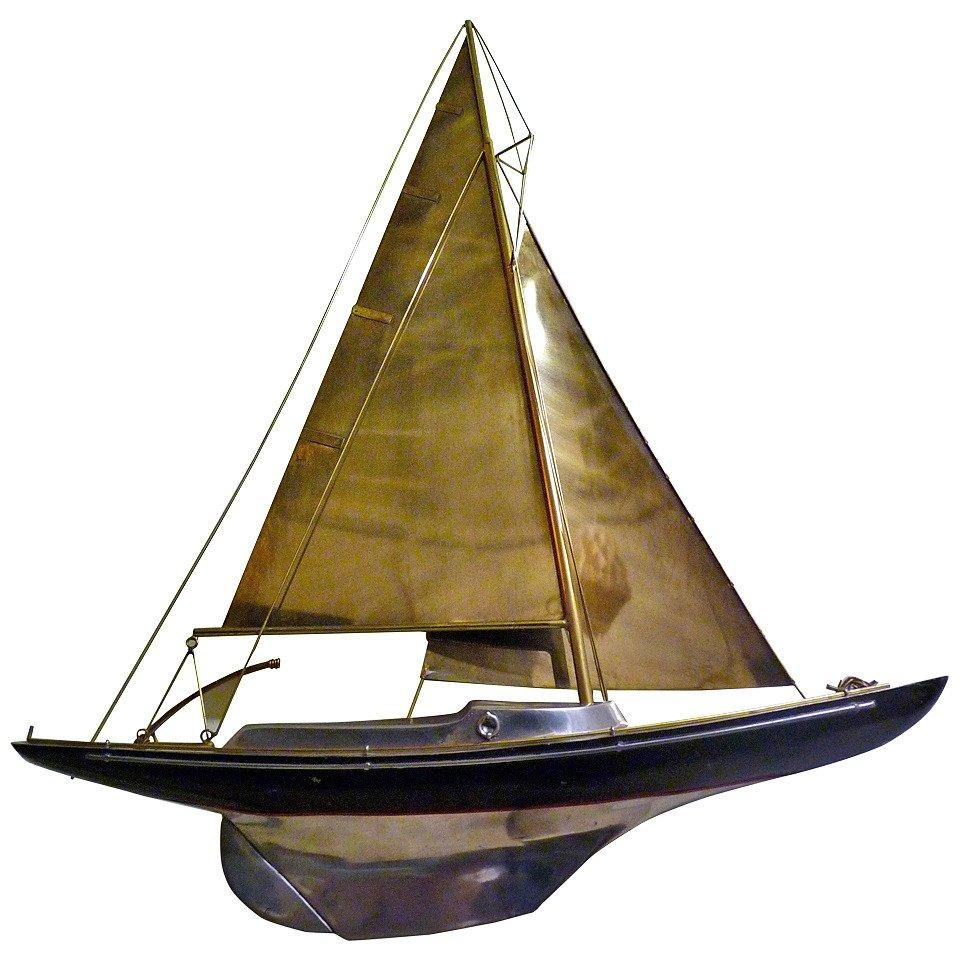 Sailboat Wall Sculpturecurtis Jere For Sale At 1Stdibs With Regard To Metal Sailboat Wall Art (Image 13 of 20)