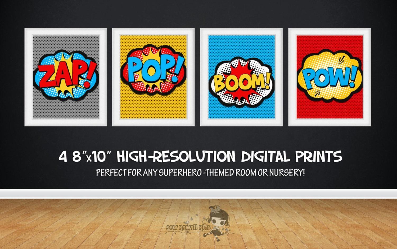 Sale 25% Off Superhero Wall Art Superhero Posters Bedroom Regarding Superhero Wall Art For Kids (Image 10 of 20)