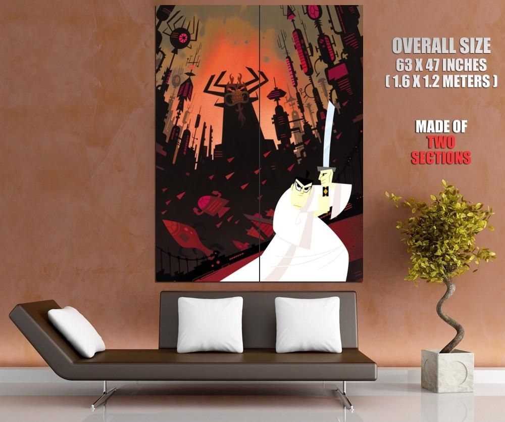 Samurai Jack Art Wall Print Poster | Ebay For Samurai Wall Art (View 9 of 20)