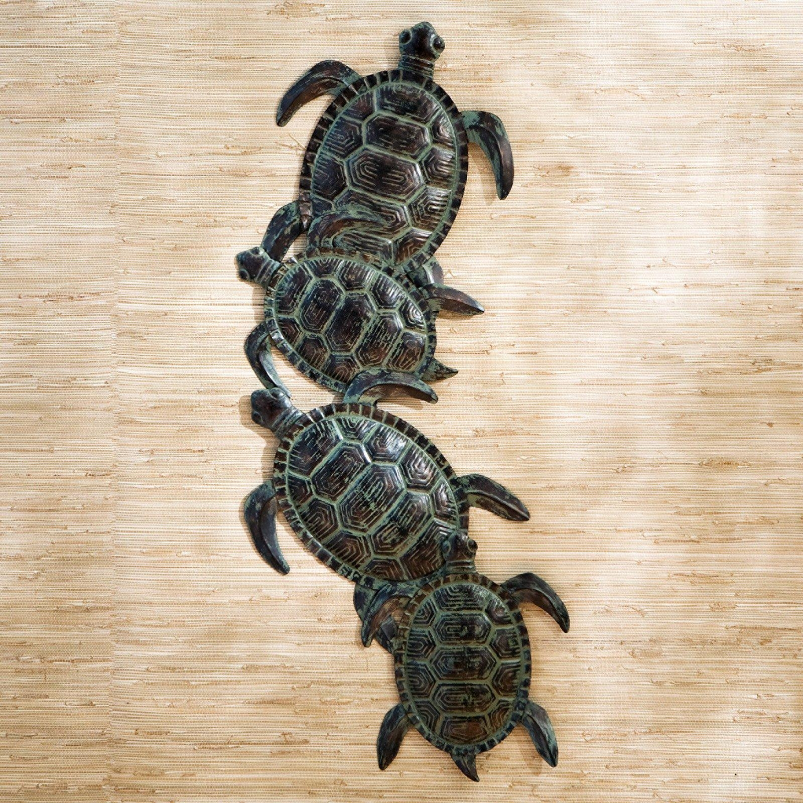Sea Turtle Metal Indoor/outdoor Wall Art | Hayneedle Intended For Outside Wall Art (View 6 of 20)