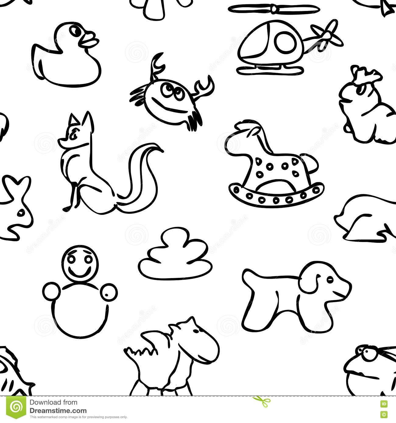 Seamless Kids Wall Art Doodles Pattern Stock Vector – Image: 72755758 With Pattern Wall Art (View 9 of 20)