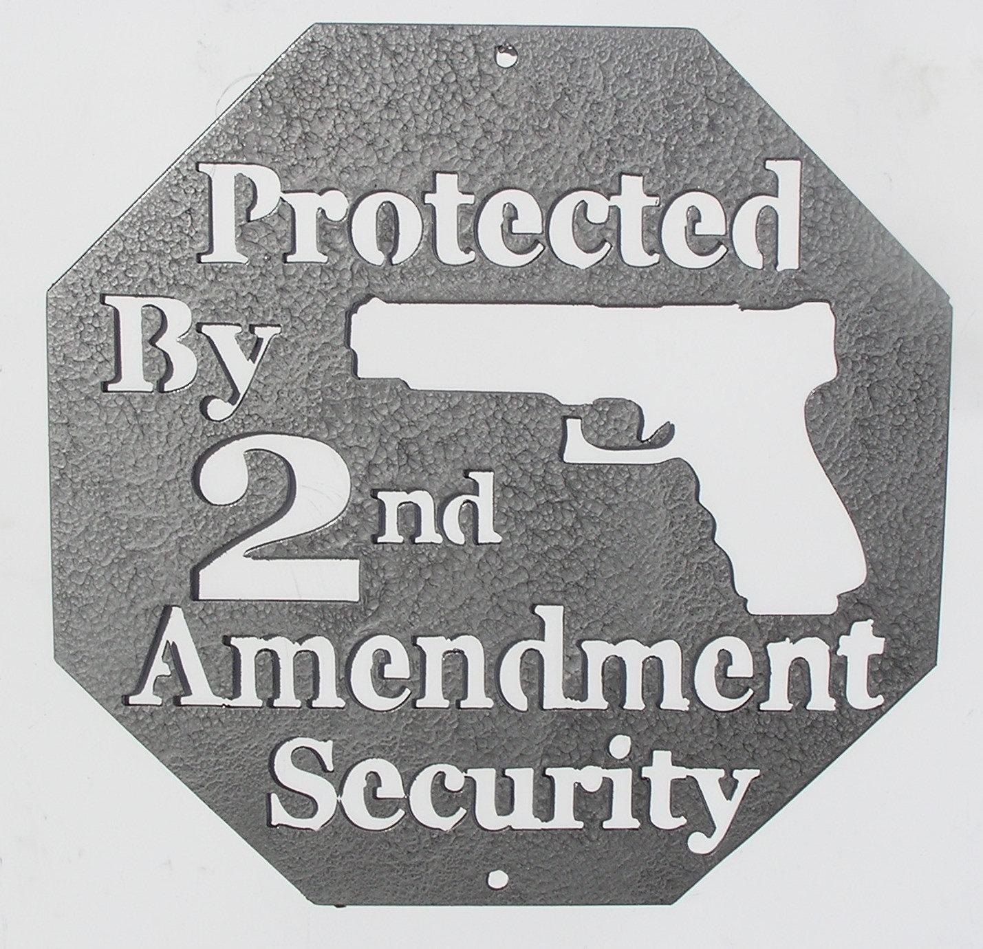 Second Amendment Metal Wall Art – Country Wonders Intended For Country Metal Wall Art (Image 15 of 20)