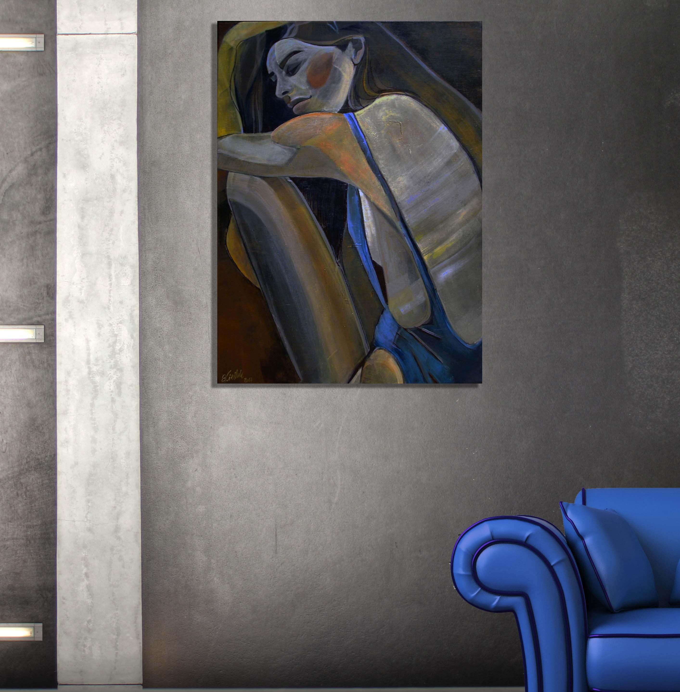 Sensual 1: Unique Painting Of A Sexy Girl In Swimsuit Throughout Sensual Wall Art (Image 10 of 20)