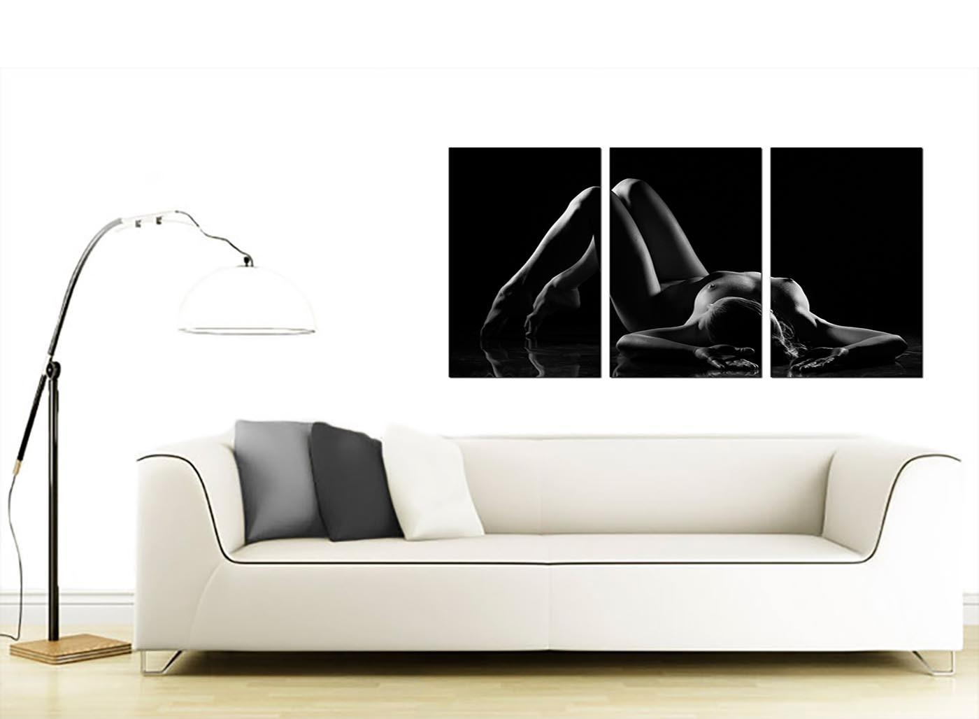 Sensual Woman Canvas Wall Art Set Of Three For Your Bedroom Intended For Sensual Wall Art (Image 16 of 20)