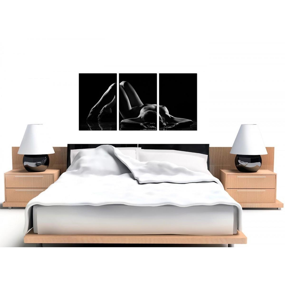 Sensual Woman Canvas Wall Art Set Of Three For Your Bedroom Throughout Sensual Wall Art (Image 17 of 20)