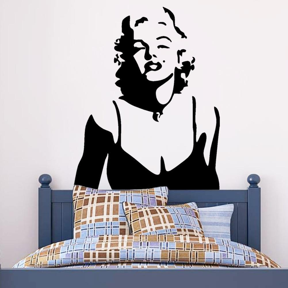 Sexy Marilyn Monroe Wall Art Decal Sticker Classic Marilyn Monroe Intended For Marilyn Monroe Wall Art (View 7 of 20)