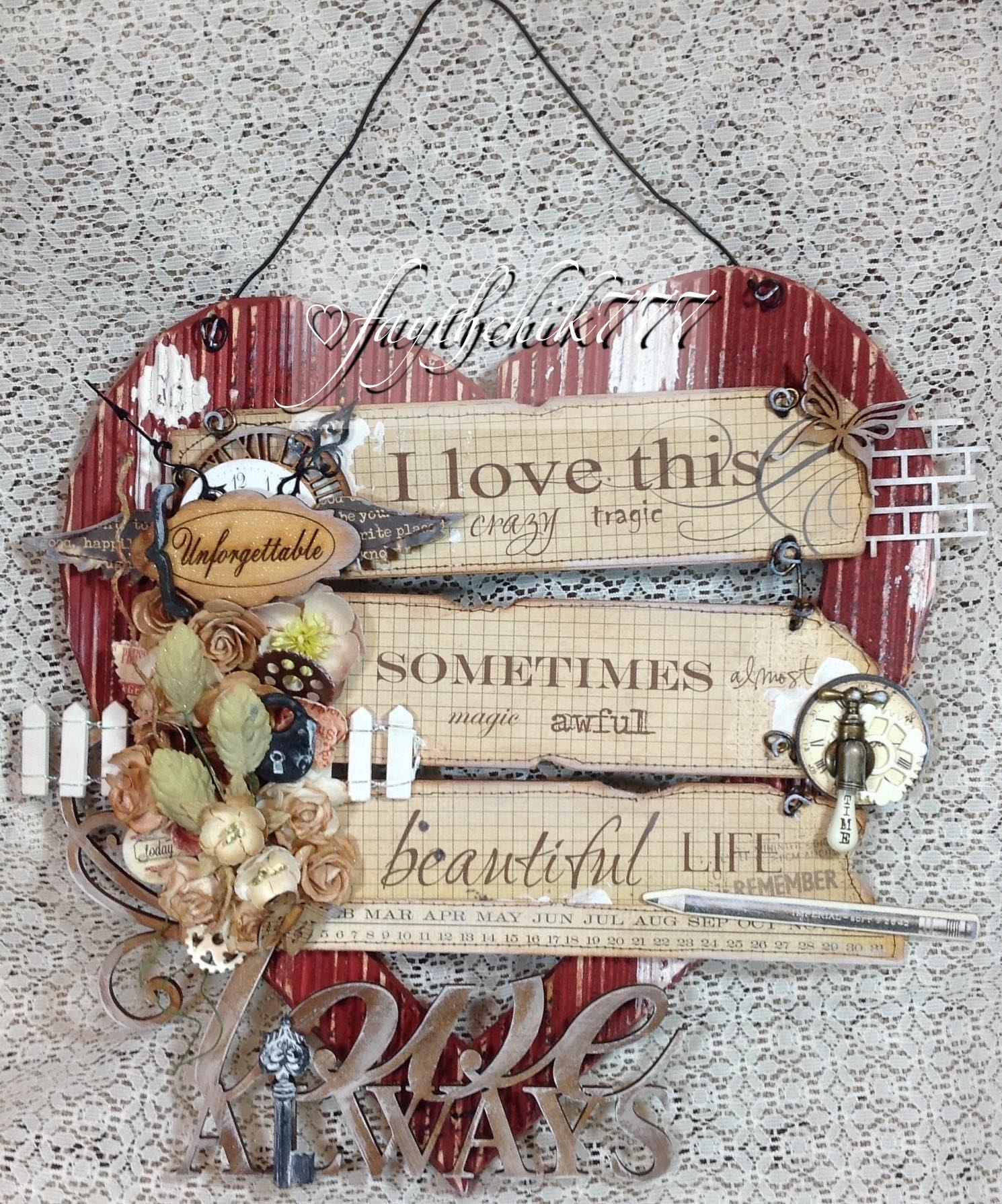 Shabby Chic Wall Art Gdt Project For Sacrafters – Youtube Pertaining To Shabby Chic Wall Art (Image 15 of 20)