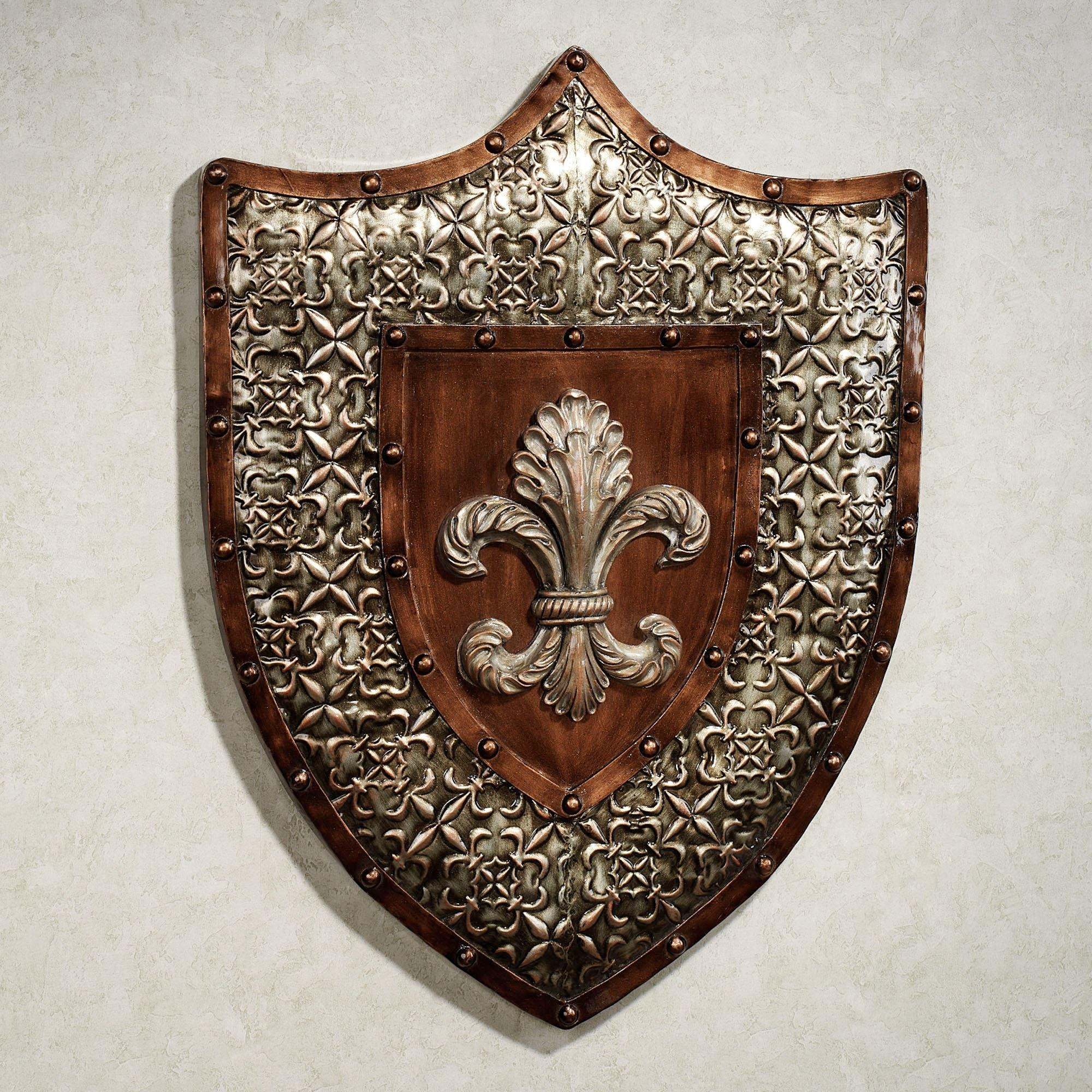 Shield Of Honor Fleur De Lis Metal Wall Art Within Fleur De Lis Metal Wall Art (Image 14 of 20)