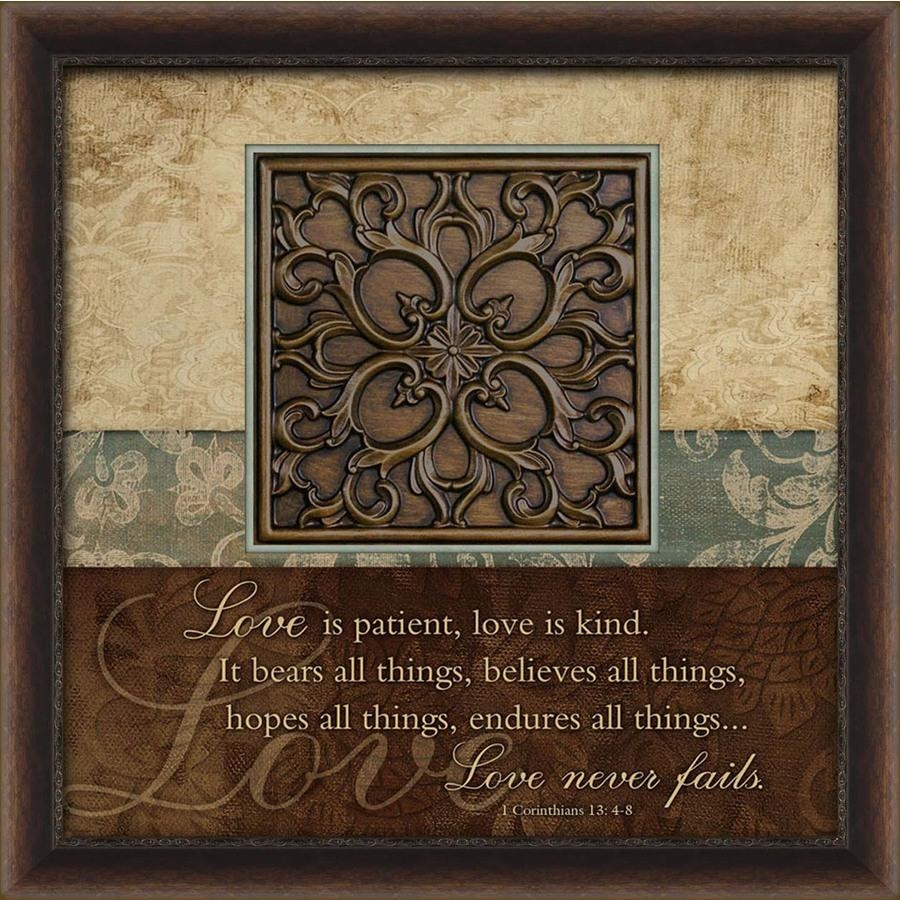 Shop 27 In W X 27 In H Inspirational Prints Wall Art At Lowes In Brown Framed Wall Art (View 2 of 20)