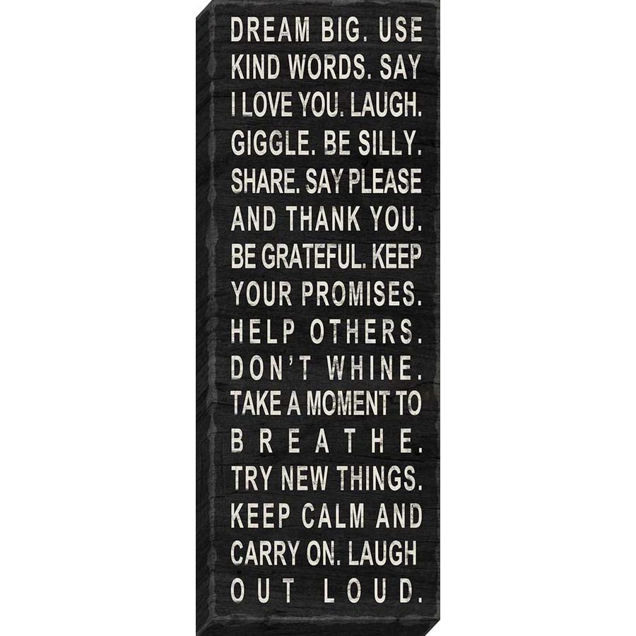 Shop 37 In W X 14 In H Frameless Canvas Inspirational Print Wall Within Inspirational Canvas Wall Art (View 19 of 20)