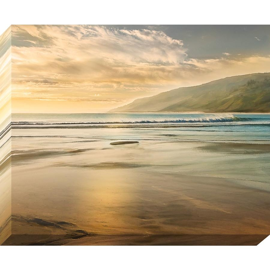 Shop 37 In W X 30 In H Frameless Canvas Coastal Print Wall Art At For Coastal Wall Art Canvas (Image 14 of 20)