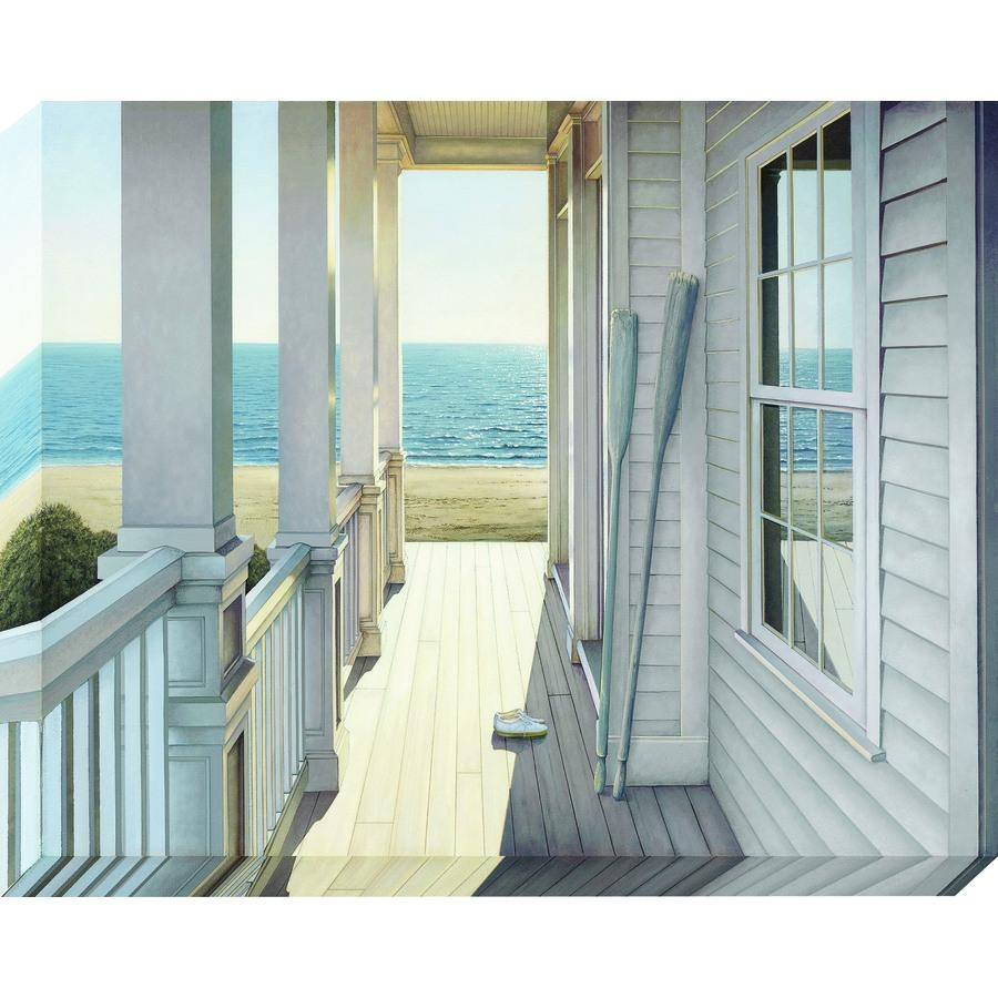 Shop 38 In W X 30 In H Frameless Canvas Coastal Wall Art At Lowes Pertaining To Country Canvas Wall Art (View 18 of 20)