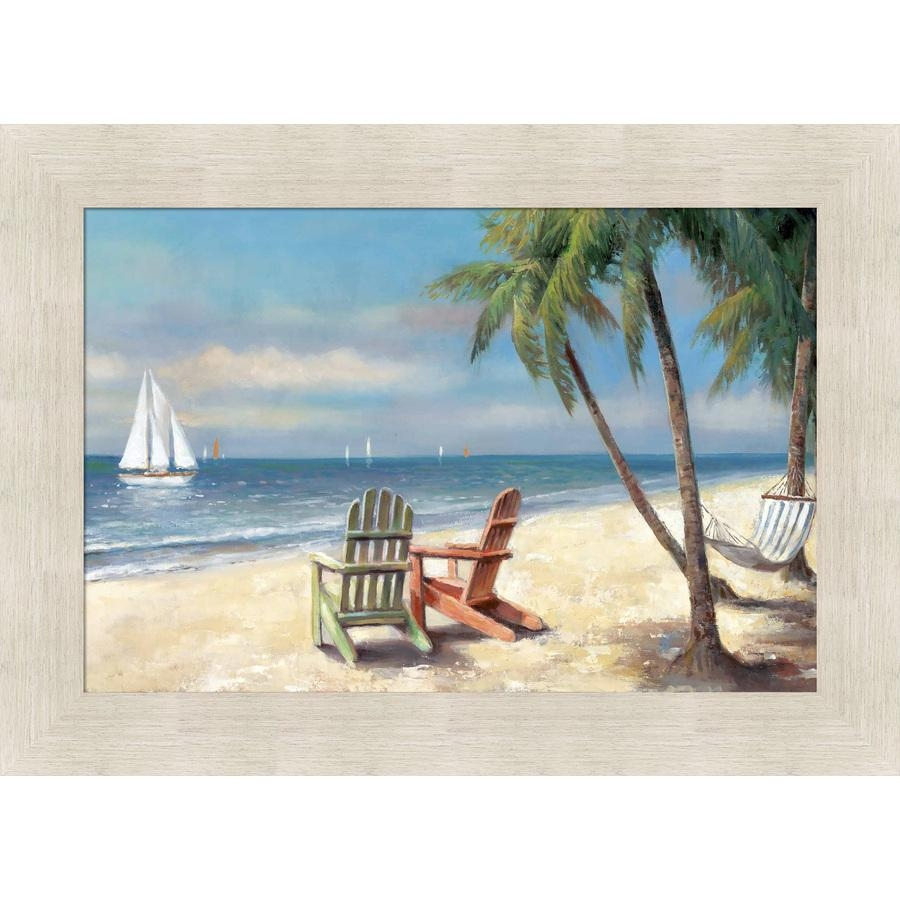 Shop 43.5 In W X 31.5 In H Framed Coastal Print Wall Art At Lowes Intended For Coastal Wall Art (Photo 2 of 20)