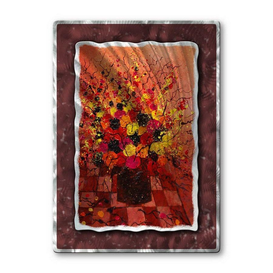 Shop All My Walls 23 In W X 32 In H Botanical Metal Wall Art At Pertaining To Botanical Metal Wall Art (Image 10 of 20)
