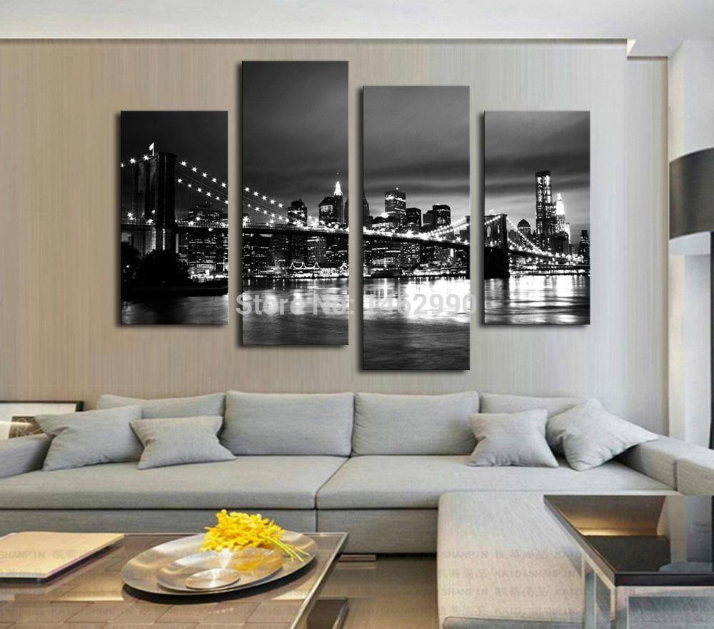 Shop Paintings Online, Hot Sell Modern Wall Painting New York Intended For Brooklyn Bridge Wall Decals (Image 15 of 20)