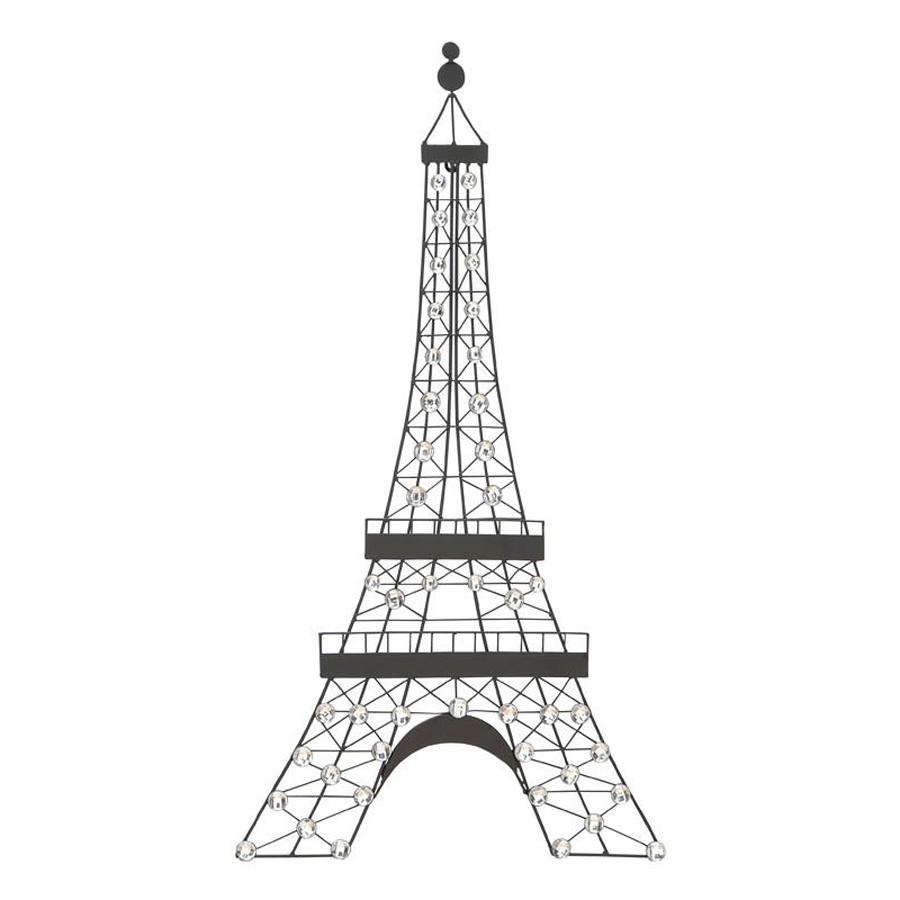 Shop Woodland Imports 18 In W X 32 In H Frameless Metal Eiffel Inside Metal Eiffel Tower Wall Art (View 2 of 20)