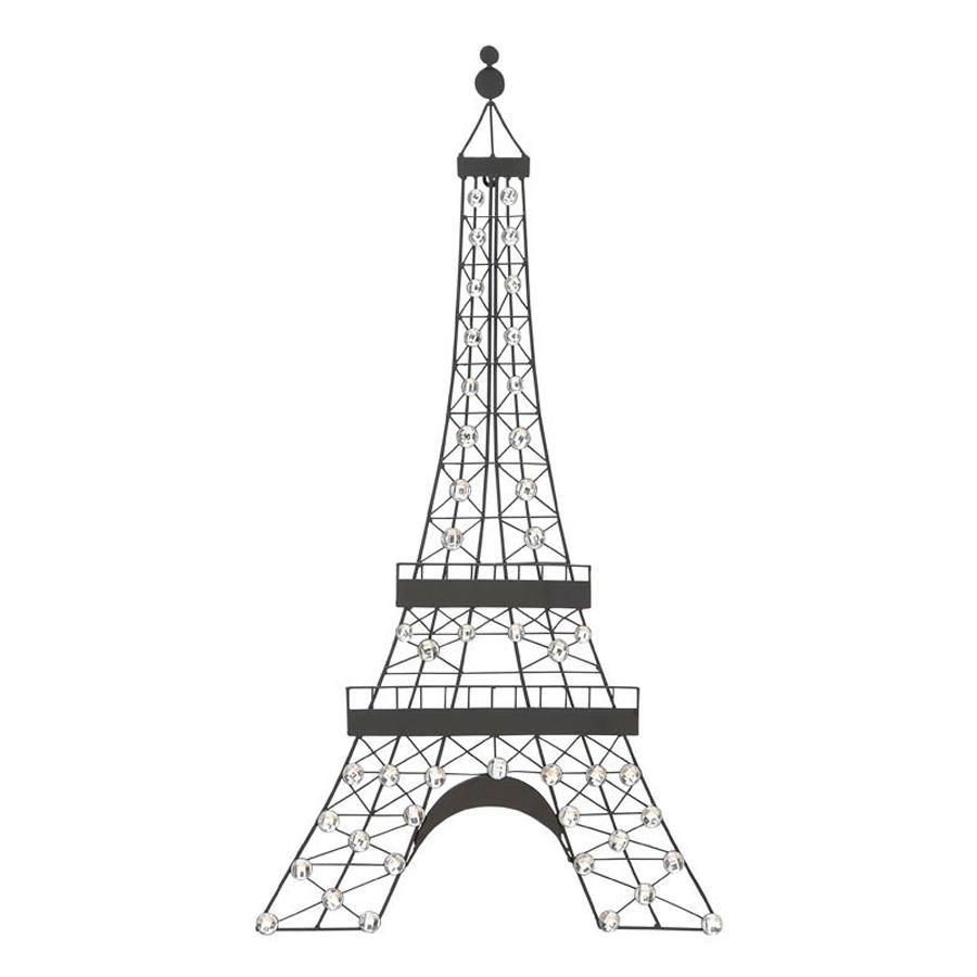 Shop Woodland Imports 18 In W X 32 In H Frameless Metal Eiffel With Regard To Eiffel Tower Wall Art (Image 16 of 20)