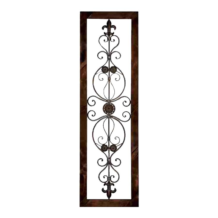 Shop Woodland Imports 18 In W X 62 In H Framed Metal Wall Plaque With Regard To Metal Framed Wall Art (View 10 of 20)