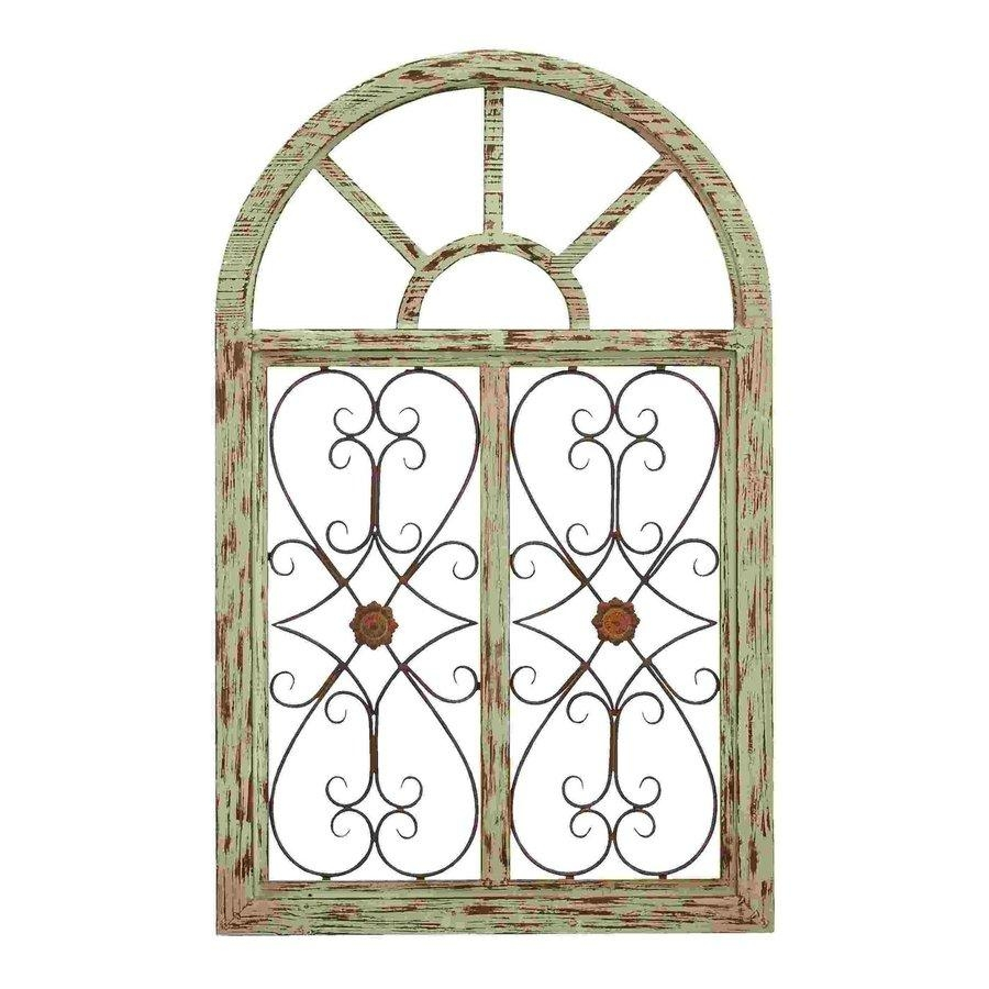Shop Woodland Imports 29 In W X 46 In H Frameless Wood Wooden Inside Iron Gate Wall Art (View 13 of 20)