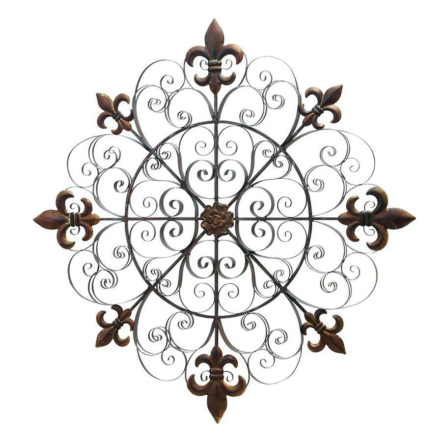 Shop Woodland Imports 42 In W X 42 In H Frameless Metal Fleur De Intended For Fleur De Lis Metal Wall Art (Image 16 of 20)