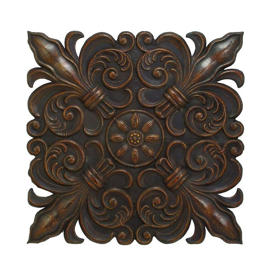 Shop Woodland Imports 47 In W X 47 In H Frameless Metal Fleur De For Fleur De Lis Metal Wall Art (Image 17 of 20)