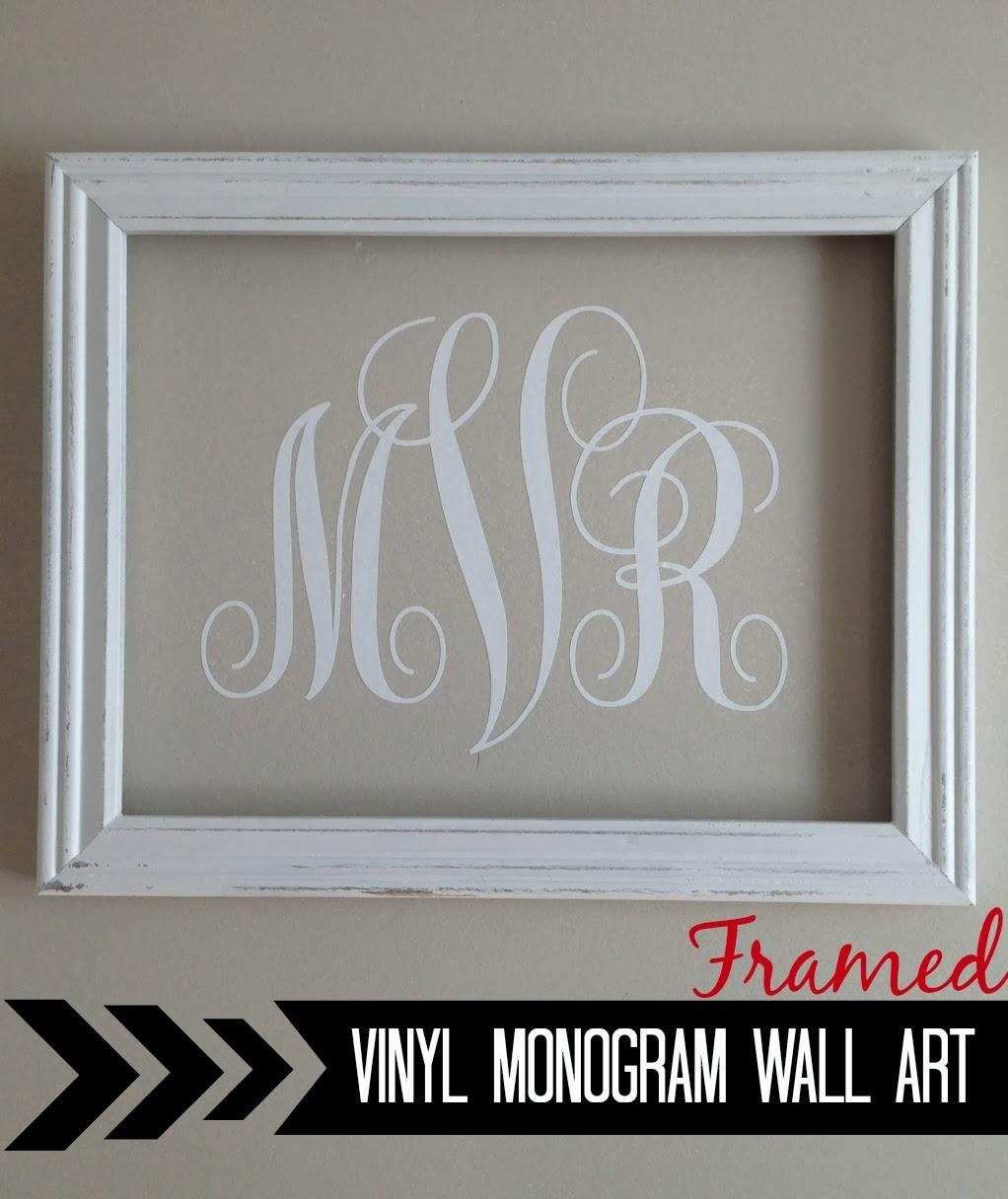 Silhouette} Vinyl Monogram Wall Art – Silhouette School With Framed Monogram Wall Art (Image 13 of 20)
