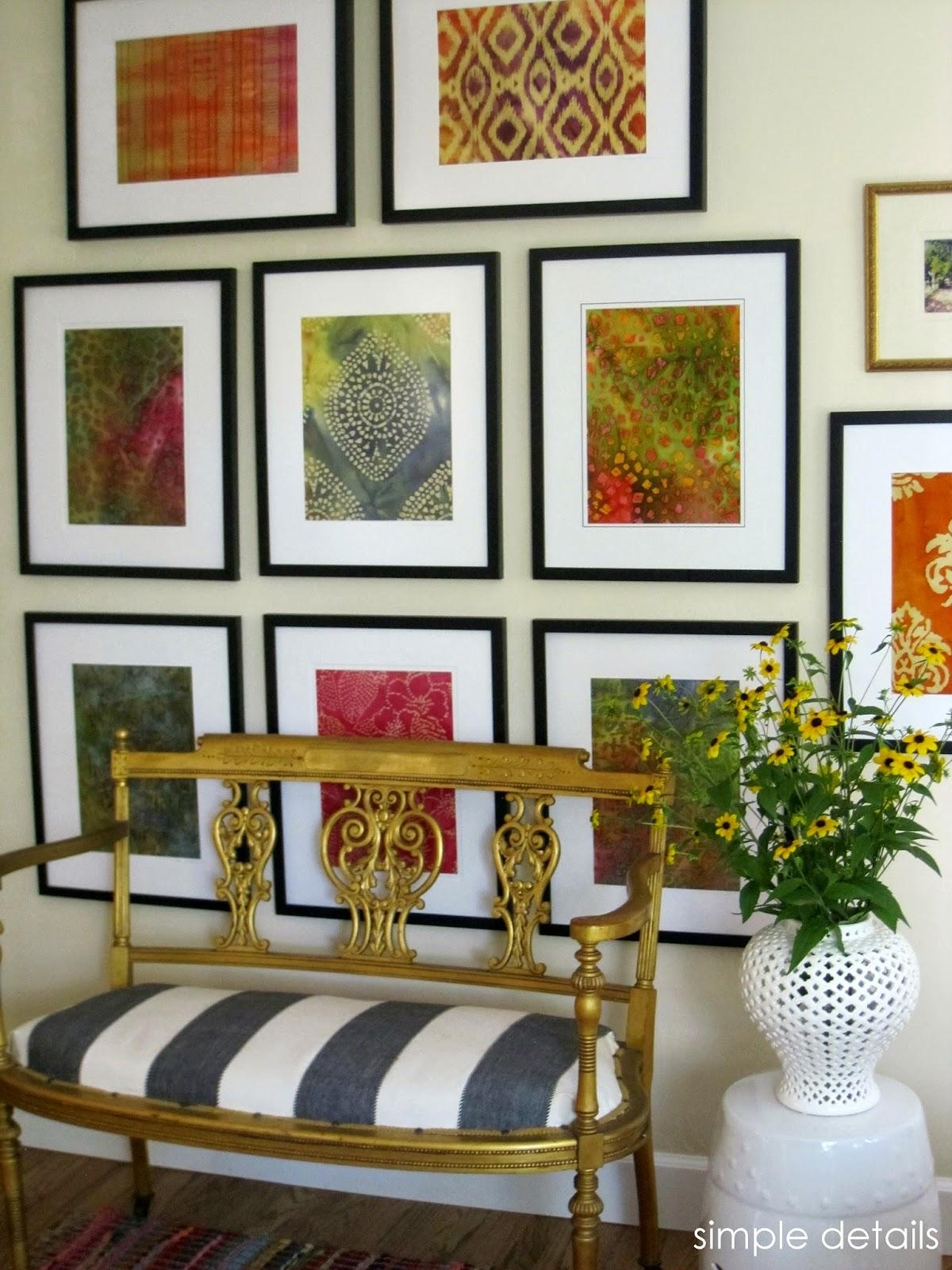 Simple Details: Diy Framed Batik Fabric Within Framed Fabric Wall Art (Image 19 of 20)