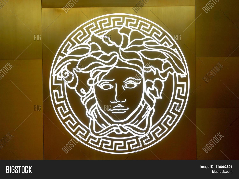Singapore – November 08, 2015: Close Us Shot Of Versace Logo On Throughout Versace Wall Art (View 13 of 20)