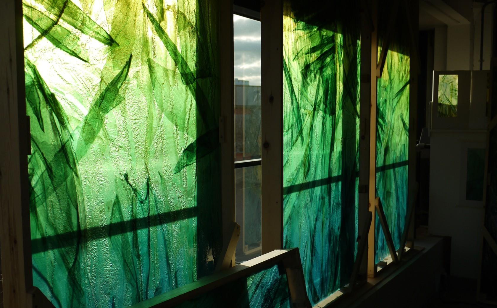 Slumped Glass Wall Art – Bradley+Basso Studio For Glass Wall Artworks (Image 17 of 20)