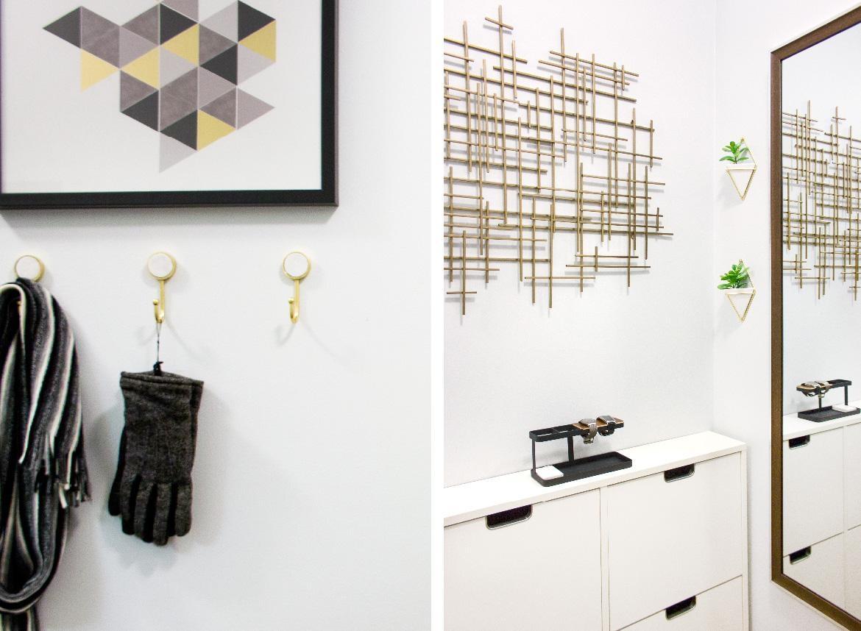 Small & Narrow Hallway – Delish&decor In Target Metal Wall Art (View 8 of 20)