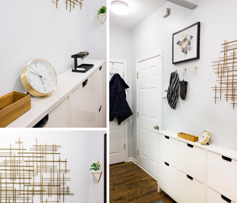 Small & Narrow Hallway – Delish&decor Throughout Target Metal Wall Art (View 5 of 20)