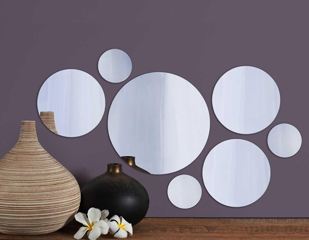 Small Round Mirrors Wall Art Set Of 7 | Home Interior & Exterior Inside Small Round Mirrors Wall Art (Image 11 of 20)