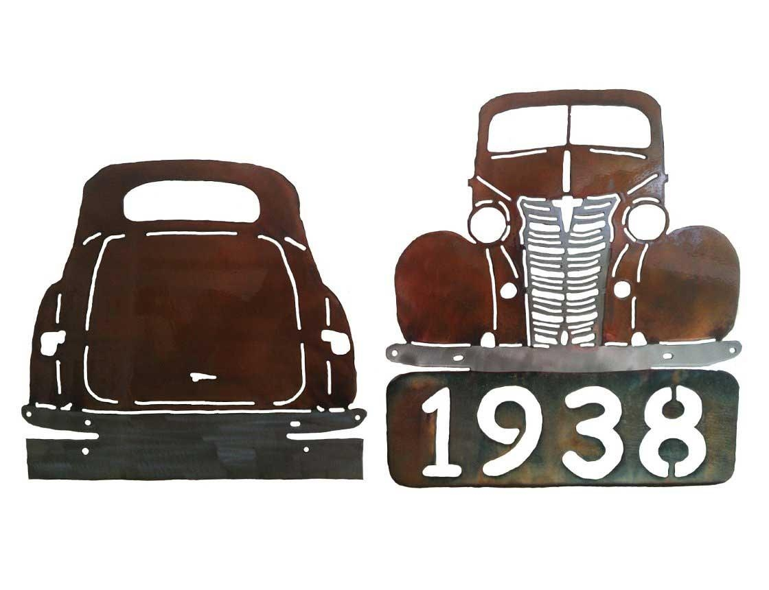 Smw227 Custom Metal Classic Car Wall Art Chevy Coupe – Sunriver Pertaining To Classic Car Wall Art (View 18 of 20)