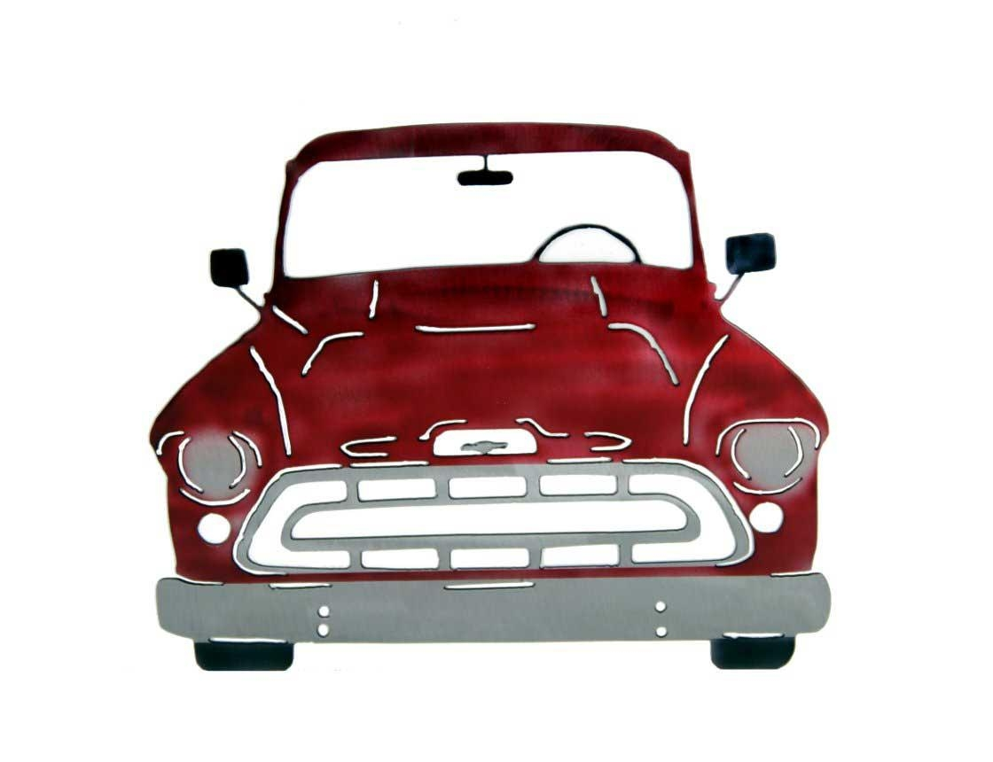 Smw267 Metal 1957 Chevy Truck Wall Art – Sunriver Metal Works Intended For Classic Car Wall Art (Image 15 of 20)