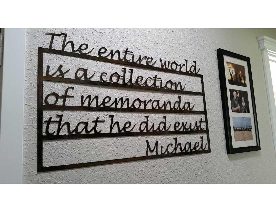Smw533 Custom Metal Decor Word Memorial Wall Art – Sunriver Metal With Metal Word Wall Art (View 4 of 20)