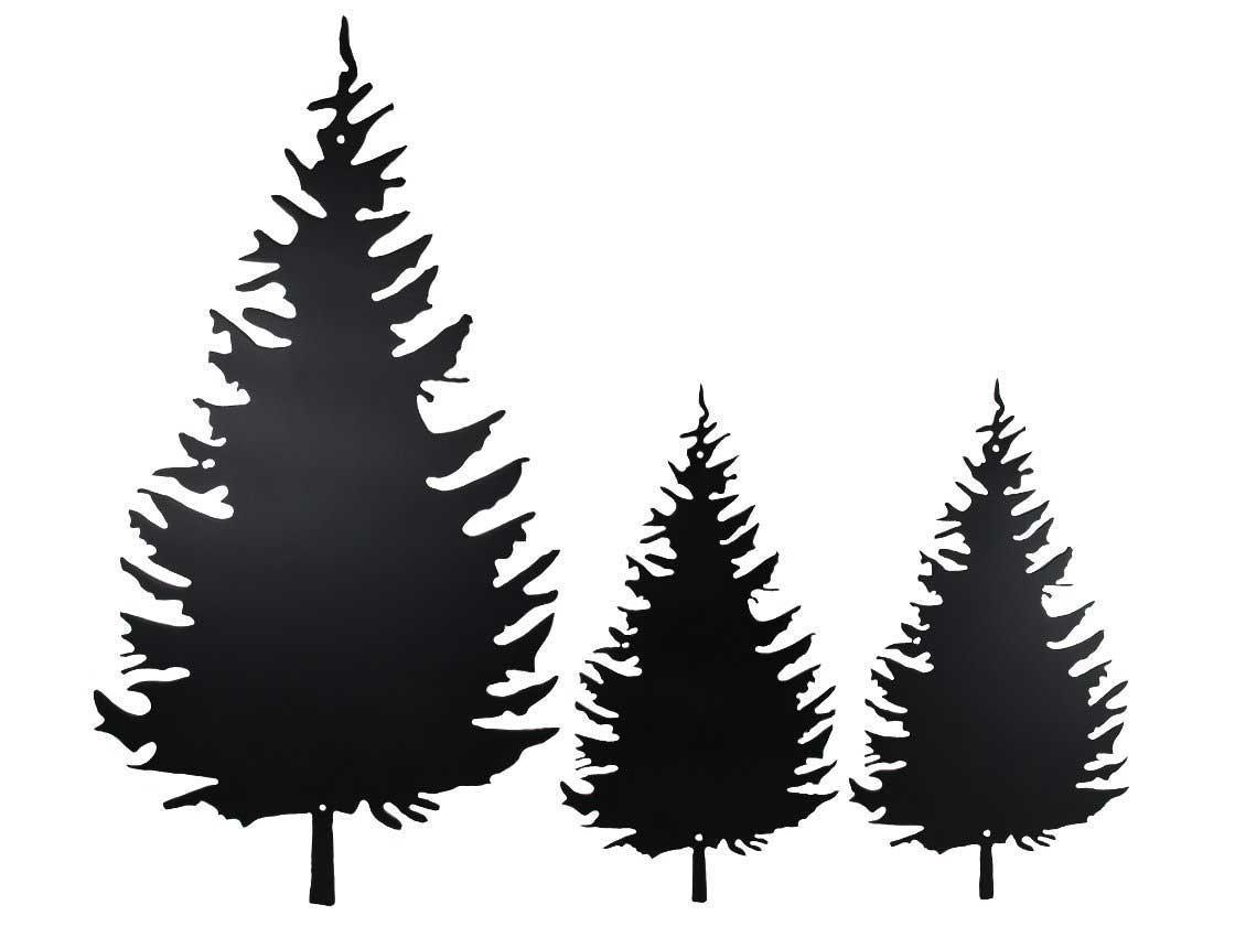 Smw535 Custom Metal Schoolhouse Wall Art – Sunriver Metal Works Regarding Pine Tree Wall Art (Image 19 of 20)