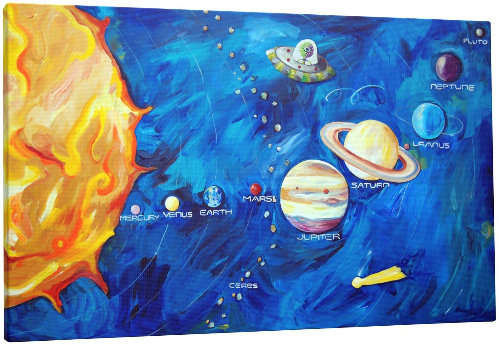 Solar System Painted On Wall (Page 3) – Pics About Space Regarding Solar System Wall Art (View 11 of 20)
