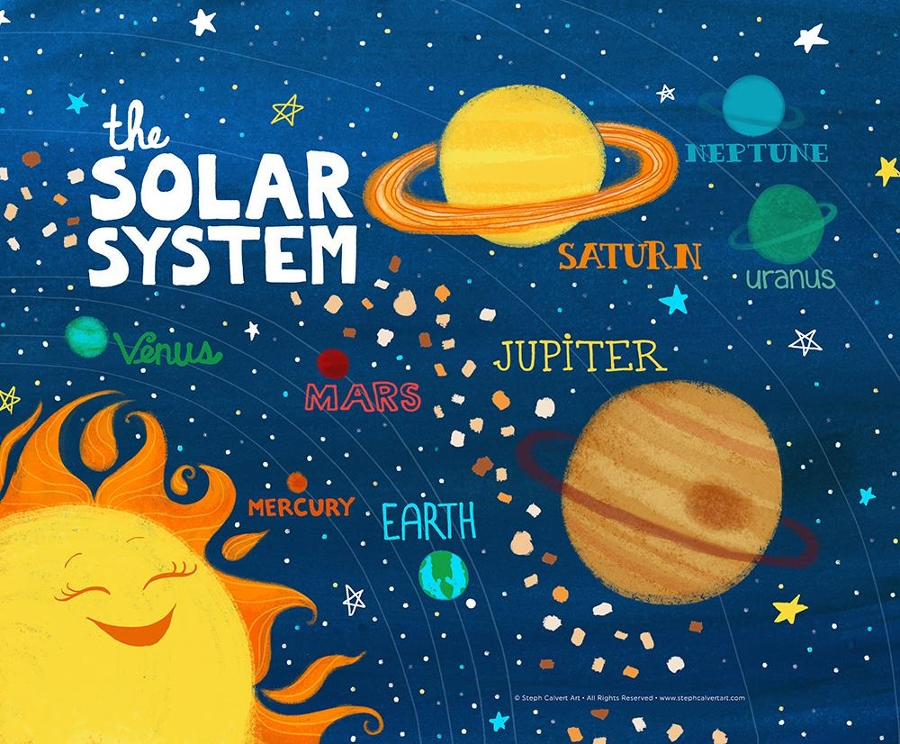 20 photos solar system wall art wall art ideas. Black Bedroom Furniture Sets. Home Design Ideas