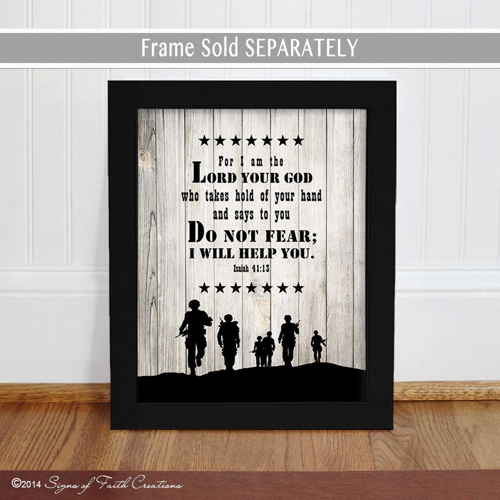Soldier Scripture Art Print. Inspirational Military Sign (View 4 of 20)