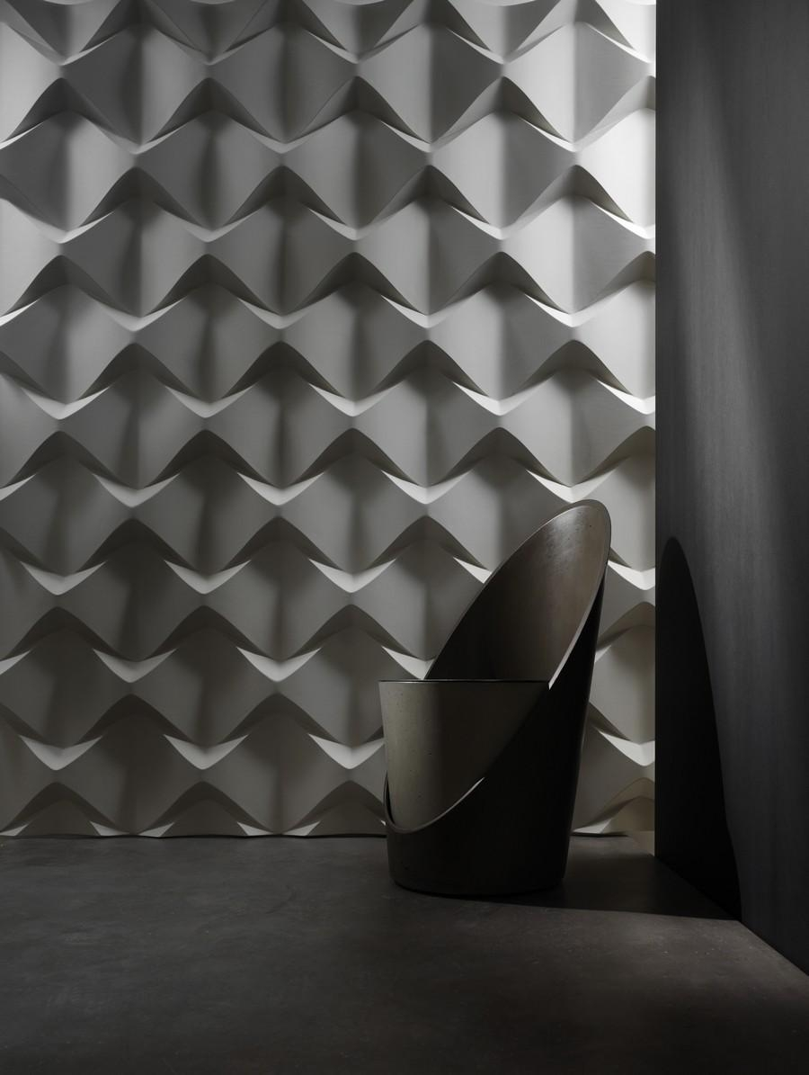 Spectacular 3D Wall Surfaces Inspiredcontemporary Art Trends In White 3D Wall Art (Image 13 of 20)