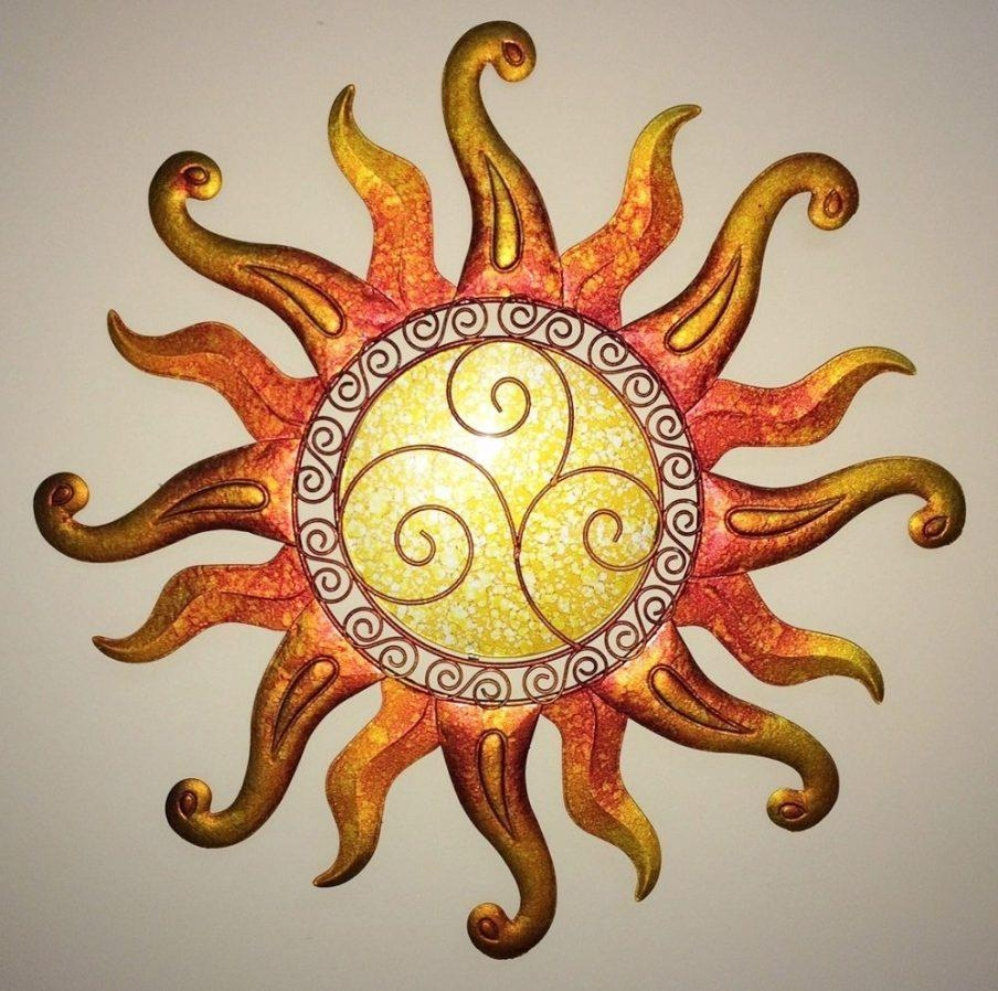 Splendid Capiz Sunburst Metal Wall Art Half Face Sun Wall Sun With Regard To Mexican Metal Yard Wall Art (View 3 of 20)
