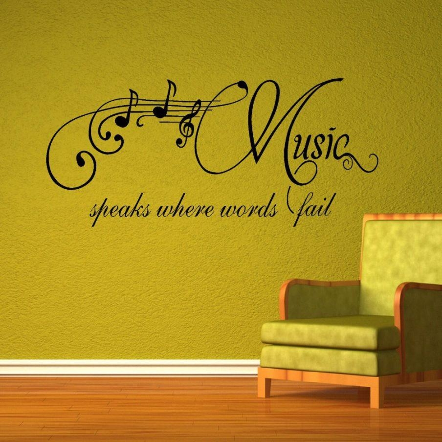 Splendid Wall Art Stickers Music Quotes Bedroom Decor Piece Wall For Music Note Wall Art (View 18 of 20)